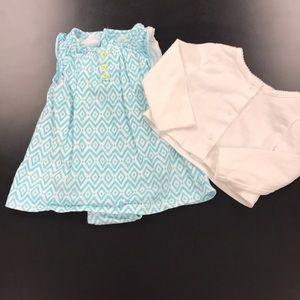 Carter's dress with cardigan